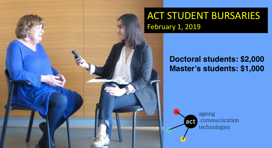 DEADLINE EXTENDED TO FEBRUARY 15: ACT Student Bursaries 2019